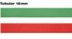 Smyčka pomocná plochá dutá 16 mm červená