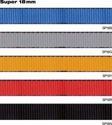 Smyčka pomocná plochá plná 18 mm žlutá