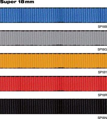 Smyčka pomocná plochá plná 18 mm žlutá Beal