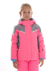 Bunda CMP lyžařská dívčí Pink Fluo