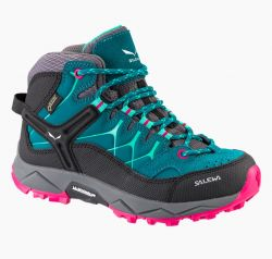 Boty Salewa Jr Alp Trainer MID GTX Shaded Spruce-Rose Red