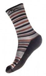 Ponožky Fjord Nansen Autumn merino hnědé
