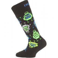 Dětské ponožky Lasting Merino SJE Black
