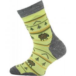 Dětské ponožky Lasting Merino TJL Yellow