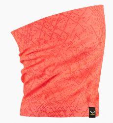 Multifunkční šátek Salewa Icono Fluo Coral 2