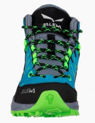 Boty Salewa Jr Alp Trainer MID GTX 64006-8375 Blue Danube Fluo Green