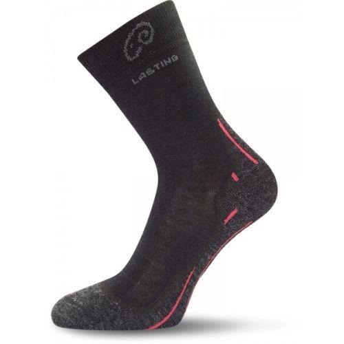 Ponožky Lasting Merino černé WHI-900