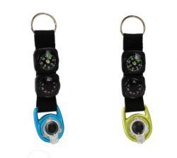 Multifunkční klíčenka s teploměrem, kompasem a LED